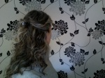 Hair Claw Classic Half Up Style Back View